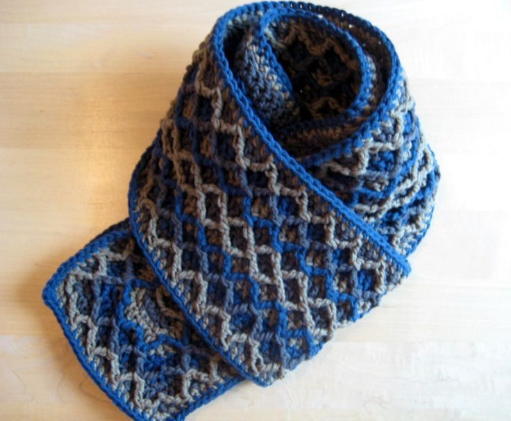 Crochet Scarf Patterns Zigzag : Free Crochet Pattern - Zigzag scarf