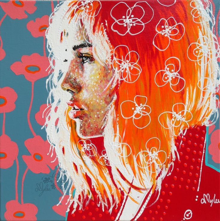 Fine Art portfolio. Acrylic paintings, Figurative Art, Pop Colours, Flowers Blast, Happiness. Welcome to Amylee's website...