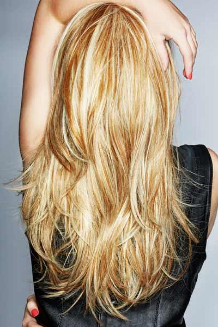Straight Layered Hair Back View | Long Hair with Layers Back View