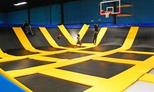 Groupon - One- or Two-Hour Bounce Passes for Two or Four at Bounce! Trampoline Sports - Springfield (Up to 51% Off) in Bounce! Trampoline Sports  . Groupon deal price: $29