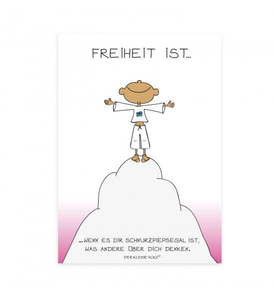 ❤ DER KLEINE YOGI – POSTKARTE ❤ Jedes wunderschöne Motiv auf unseren Postkarten wird mit 100% Liebe, Leidenschaft und Hingabe von Barbara Liera S…