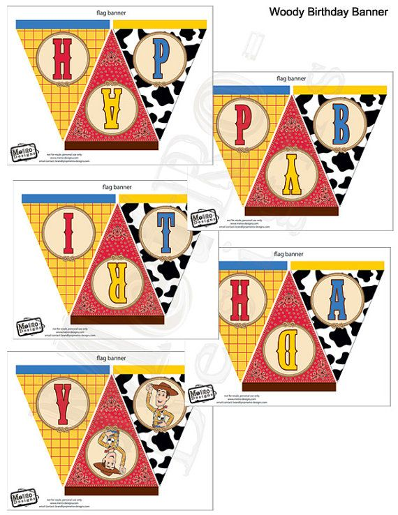 Woody Toy Story  Birthday Banner by MetroEvents on Etsy, $4.98