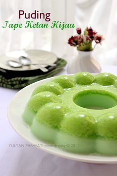 Cooking With Love: Puding Tape Ketan Hijau