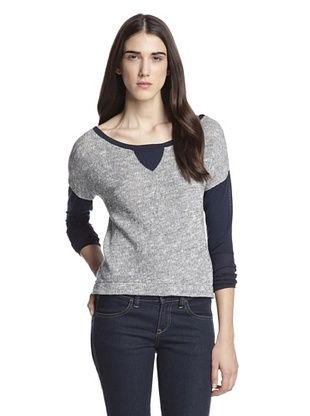 63% OFF Woodleigh Clothing Women's Lottie Colorblock Sweatshirt (Indigo)