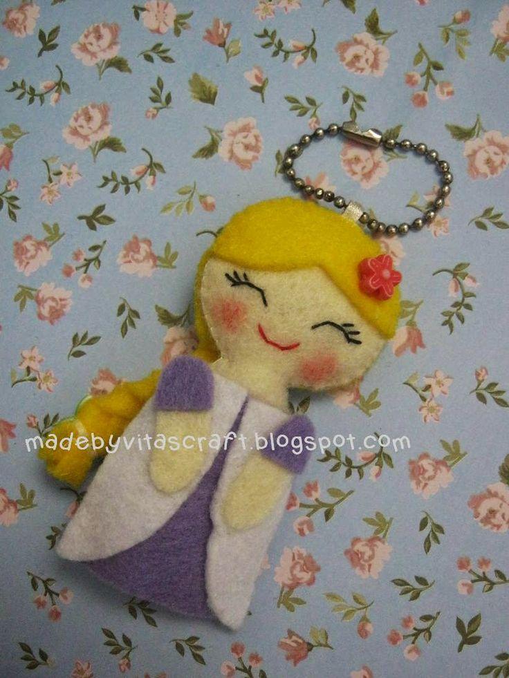 Rapunzel Disney Princess Felt Doll Keychain