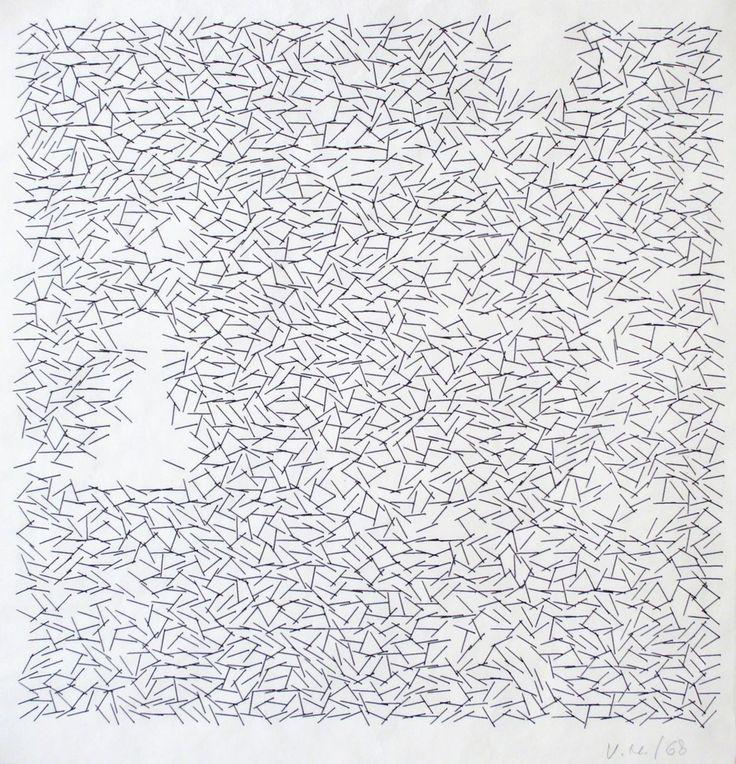 Vera Molnar, 'Interruptions', 1968