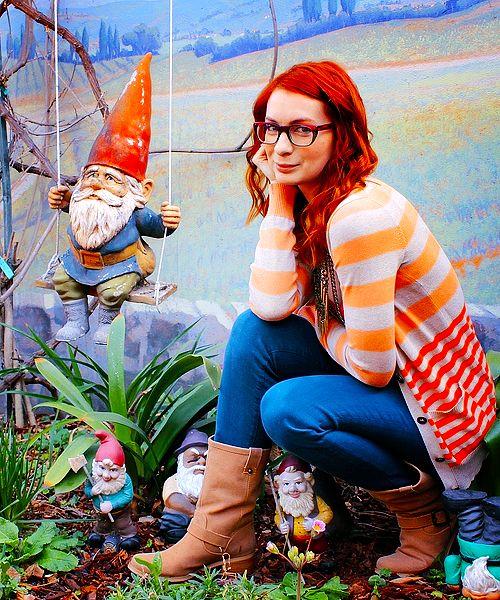 Felicia Day + Garden Gnomes