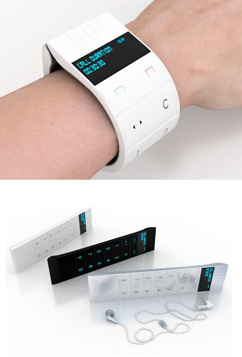 Future, Futuristic, Mobile Phone, Future Gadget, Futuristic Device, Future Phone, Futuristic Cellphone, Bracelet, Concept Phone