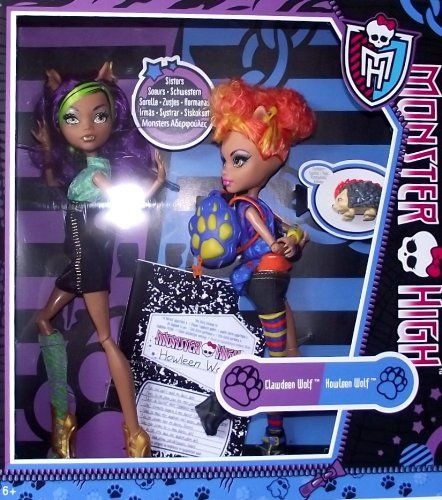 Monster High Action Figure Doll 2Pack Gift Set Werewolf Twin Sisters Clawdeen Howleen Wolf: Kiki's next MH buy
