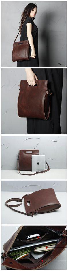 Handmade Full Grain Leather Women Satchel Shoulder Bag Handbag SCY09 from…