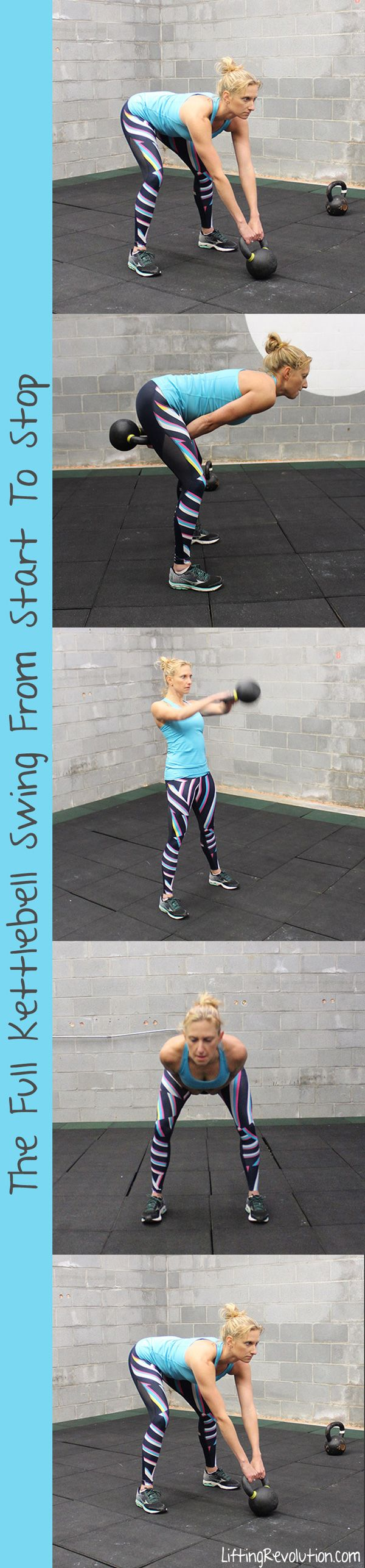 The Ultimate Guide To Master The Kettlebell Swing. Videos and graphics to help! #kettlebells #swing