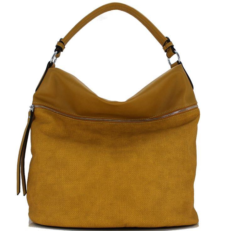 Τσάντα ώμου κίτρινη Dudlin