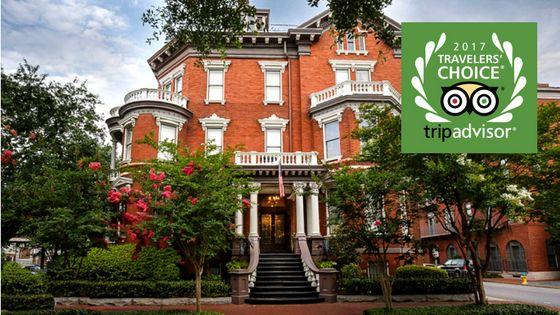 Kehoe House Awarded Two TripAdvisor 2017 Traveler's Choice Awards