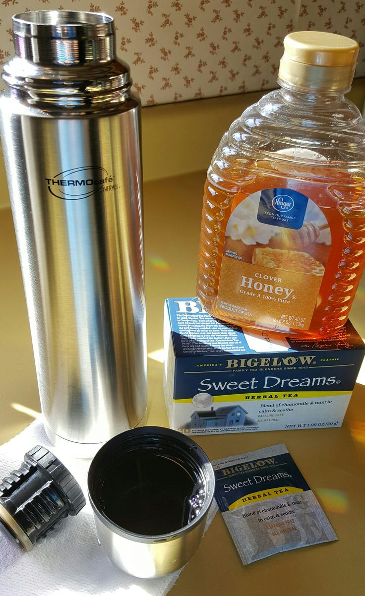 Really sick? Make hot tea with honey in a thermos and keep it by your bedside. Helps soothe sore, dry throats and aids in getting back to sleep quickly.