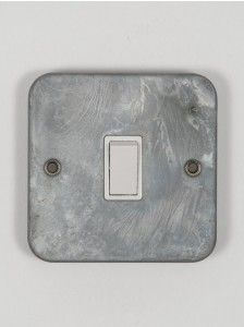 galvanised light switch single switch