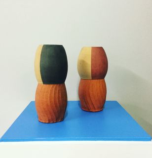 Paul Maseyk Faceted Vases at Tree Gallery Whanganui
