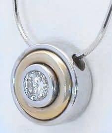 Bezel Set Diamond Solitaire Necklace   40 ct Bezel Set Diamond Pendant from MyJewelrySource (DP-1093)