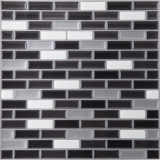 Shop for Magic Gel Silver/Black 9.125x9.125 Self Adhesive Vinyl Wall Tile - 1 Tile/0.75 sq Ft.. Free Shipping on orders over $45 at Overstock.com - Your Online Home Improvement Shop! Get 5% in rewards with Club O! - 16080169