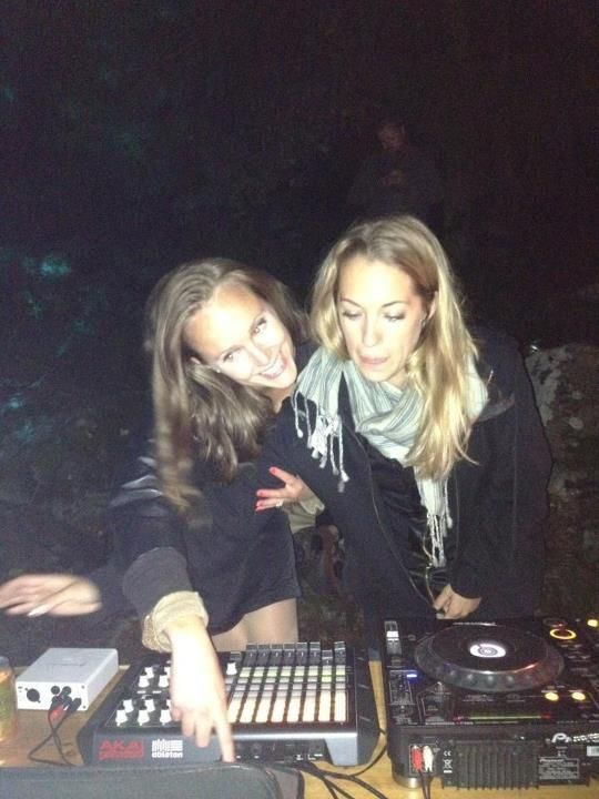 Underground Wedding Party at secret Forest Venue. We played on the outside-dancefloor..