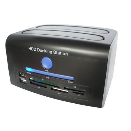 2.5, 3.5 inch SATA IDE HDD Docking Station Dual Hard Disk Drive Dock ESATA USB  — 2309.54 руб. —