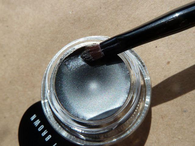 Bobbi Brown Long-wear gel eyeliner Steel ink swatches/ Гелевая подводка Бобби Браун отзыв