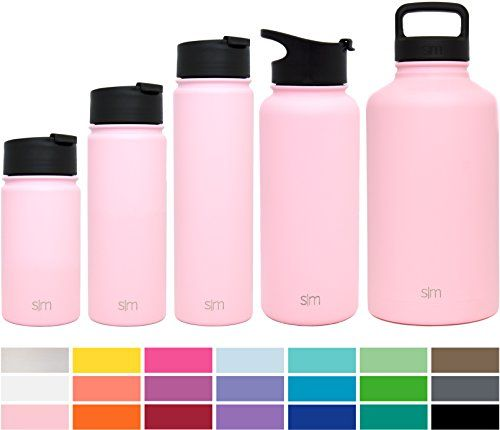 Simple Modern 32oz Summit Water Bottle + Extra Lid - Vacuum Insulated Stainless Steel Wide Mouth Liter Hydro Travel Mug - Powder Coated Football Flask - Blush Red. For product & price info go to:  https://all4hiking.com/products/simple-modern-32oz-summit-water-bottle-extra-lid-vacuum-insulated-stainless-steel-wide-mouth-liter-hydro-travel-mug-powder-coated-football-flask-blush-red/