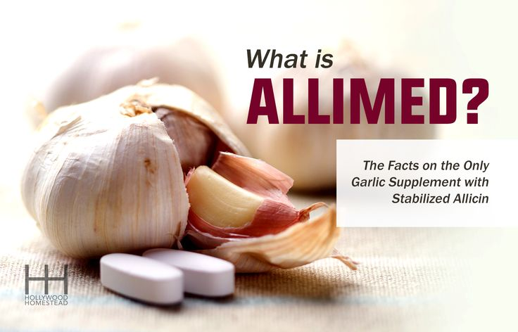 Learn why Allimed is the only garlic supplement with stabilized Allicin, what Allimed is used for, and Allimed dosage for treating infections naturally.