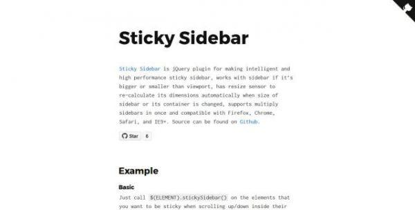 Un plugin jQuery pour une gestion du défilement intélligent - Sticky Sidebar  La gestion d'affichage de contenu peut se faire de manière intélligente.   Sticky Sidebar va vous permettre de gérer la barre de défilement en gardant dans la fenêtre les éléments les plus petits.  https://www.noemiconcept.com/index.php/en/departement-communication/news-departement-com/207792-webdesign-un-plugin-jquery-pour-une-gestion-du-d%C3%A9filement-int%C3%A9lligent-sticky-sidebar.html