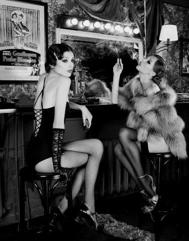showgirls | time out | break | cigarette | smoking | hot | sexy | bar | performers
