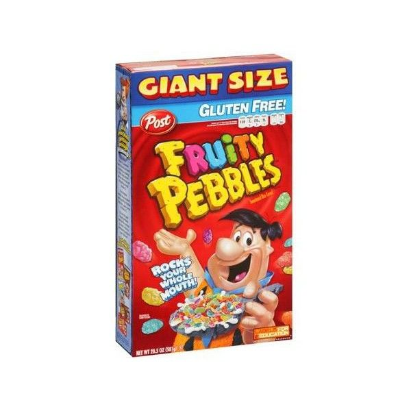 Post Fruity Pebbles Cereal, 20.5 oz Walmart.com ❤ liked on Polyvore featuring food
