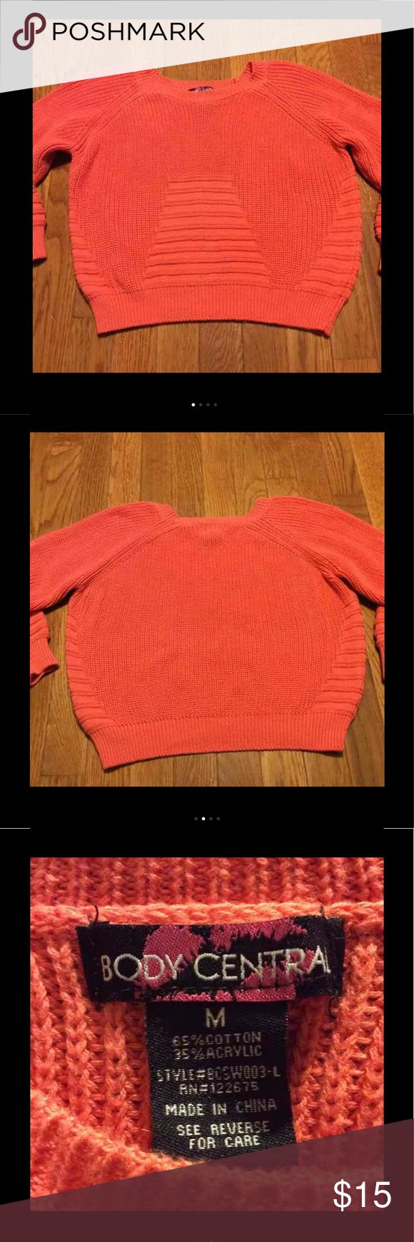 Body Central Cropped Sweater size M Gently used, no stains or tears, ribbing on sleeves matches front & side pattern Body Central Sweaters Crew & Scoop Necks