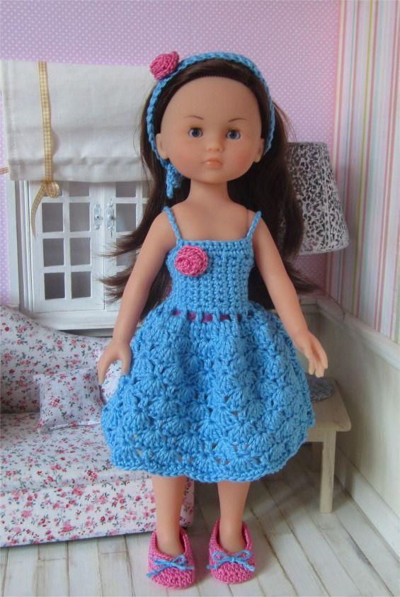 94- FICHE PATRON Tenue Chloé au crochet pour poupée Les Chéries de Corolle ou Paola Reina : Jeux, jouets par atelier-crochet