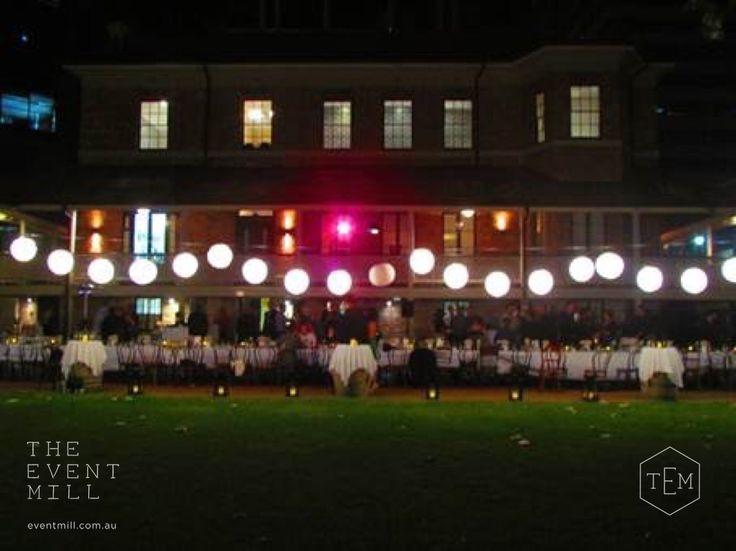 Lantern Festoons #festoon #lighting #wedding #longtable #pretty #reception #lamonts