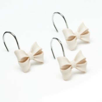 LC Lauren Conrad Bow 12-pk. Shower Curtain Hooks. SHUT UP. I'm not one to be overly feminine, but how can you not love these?!