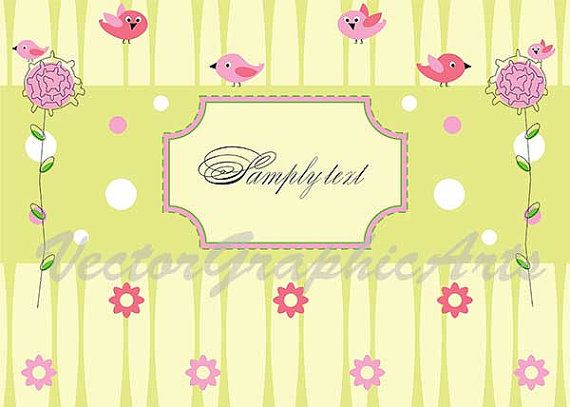 Baby greetings card. Digital Clipart. Graphic от VectorGraphicArts