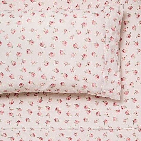 Delight in the femme-pretty feel of the sumptuous cotton Megan Flannelette Sheet Set from Linen House in your home.