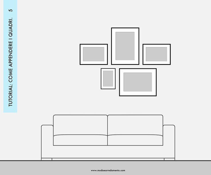 Pareti di quadri e foto: 10 idee per creare una buona composizione.