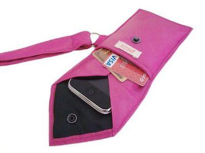 Neck tie phone case