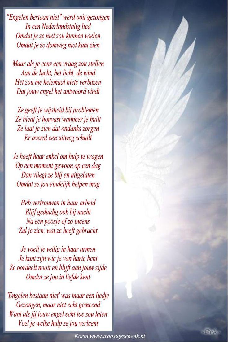 www.troostgeschenk.nl We leven in een supersnelle wereld, maar als je een beetje vertragen zou, dan zul je ontdekken dat Engelen wel degelijk bestaan. Je kunt eenvoudig contact maken, door een vraag te stellen. Vraag om hulp wanneer je steun nodig hebt. Vraag om inzicht wanneer je niet meer weet waar je naartoe moet. Vraag om bescherming, wanneer je je niet meer veilig voelt.  Laat je engelen toe, ze komen je met liefde helpen!