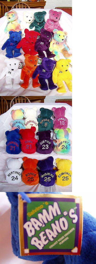 Bammers Bamm Beanos 1522: Salvino S Bamm Beano S Baseball Player Beanie Bears -> BUY IT NOW ONLY: $40 on eBay!