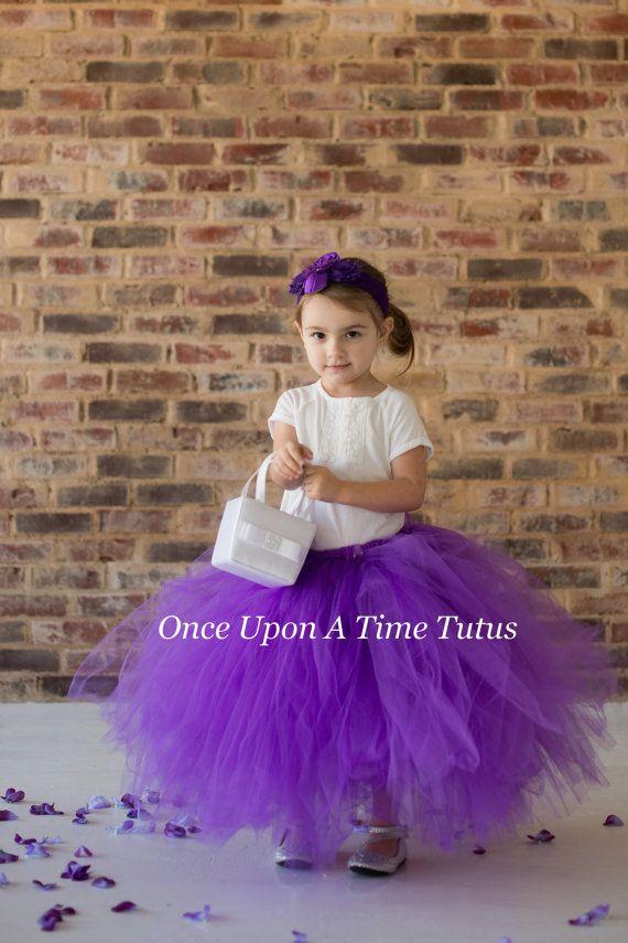 Purple Long Tutu Skirt
