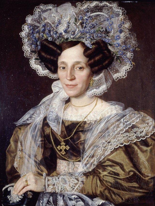 1832 Antonin Machek Barbora Smetanova Mother Of Bedrich Smetana