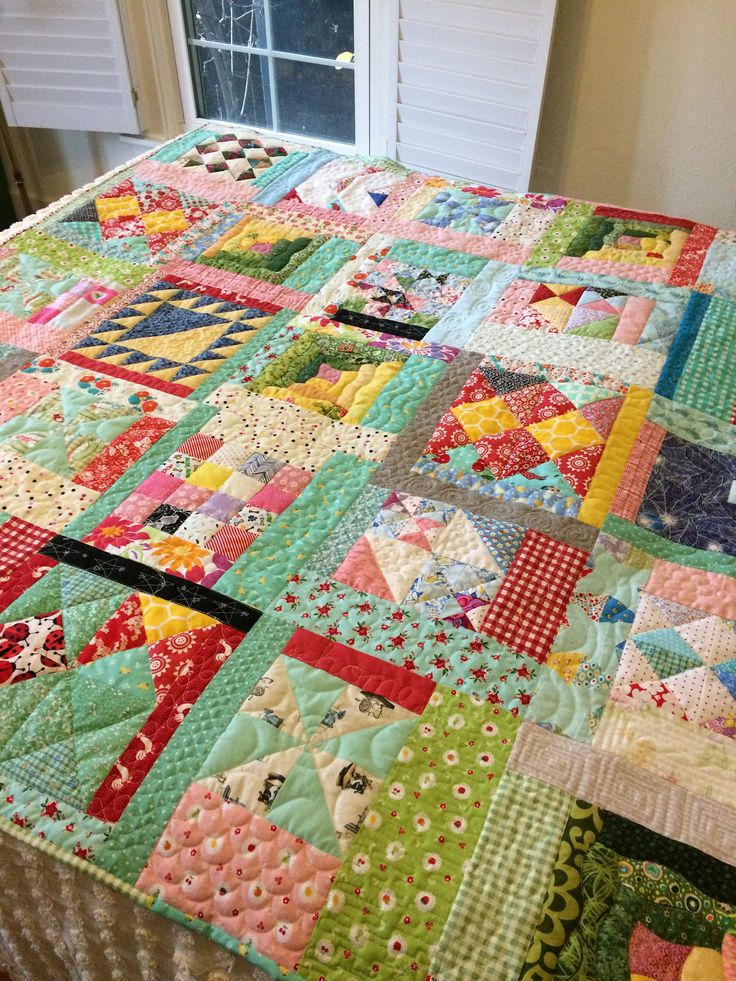 """Crazy Quilt/quilts for sale/patchwork quilt/lap quilt/throw quilt/gift for her/60"""" square quilt/rainbow colored quilt/ by OldGalsGarage on Etsy"""