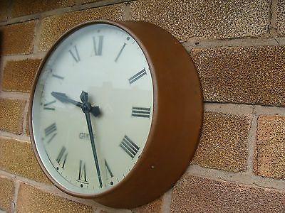 Vintage Gents of Leicester Clock Copper 9 1/2 Dial Restoration Display pub cafe