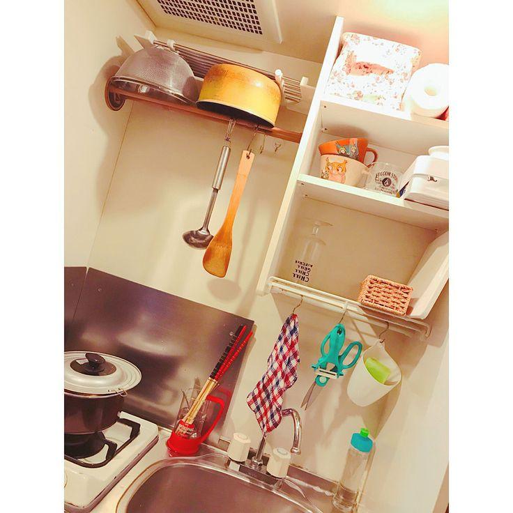 Kitchen/ダイソー/IKEA/ワンルーム/狭い部屋/ニトリ...などのインテリア実例 - 2017-11-20 12:00:17|RoomClip (ルームクリップ)