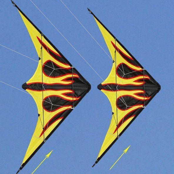 Dual Line Flame Stunt Kite #Kites