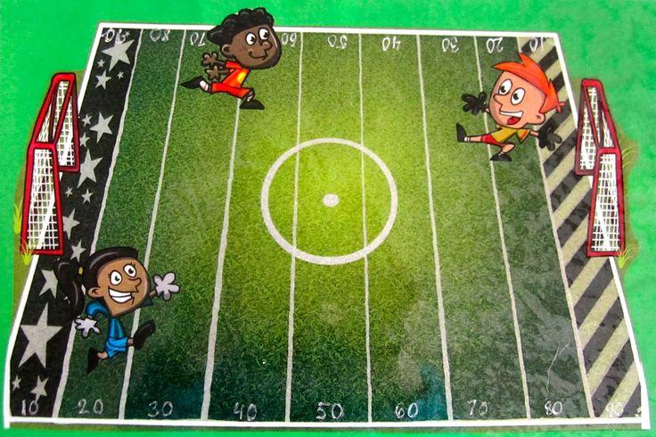 Jalkapallopeli pareittain (yhteenlasku): Peliin tarvitaan noppa (nopat), pelimerkit pelaajille, satataulu (jokaiselle oma) ja värikynä. Oppilaat heittävät vuorotellen 1(-2) noppaa, esim. 4+5 ja värittää ruudun 9. Seuraavalla vuorolla oppilas heittää 5+3 ja oppilas laskee 9+5+3 ja värittää luvun 17. Ohittaessaan jalkapallon (tasakympin) oppilas saa siirtää pelimerkkiään pelikentällä seuraaaan sektoriin. Kun oppilas on pääsee laudan toiseen päähän eli sataan, hän tekee maalin.