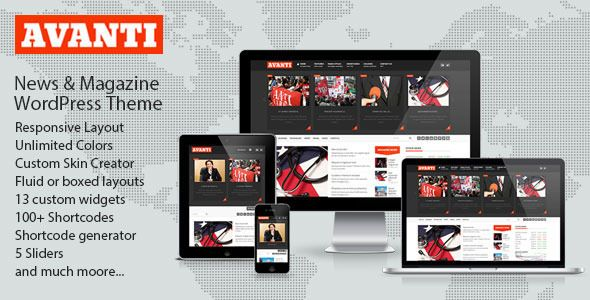 Avanti Mutlipurpose News & Magazine Theme (Blog / Magazine)
