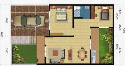42 Gambar dan Denah Rumah Minimalis Type 60   Desainrumahnya.com
