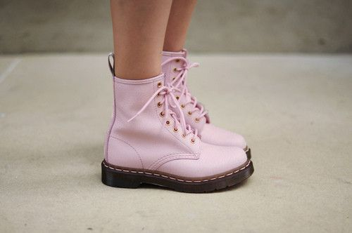 Pink Doc Martens. About the only thing that makes boots more awesome is making them pink.